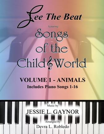 easy piano sheet music book songs of the child world by Jessie Gaynor